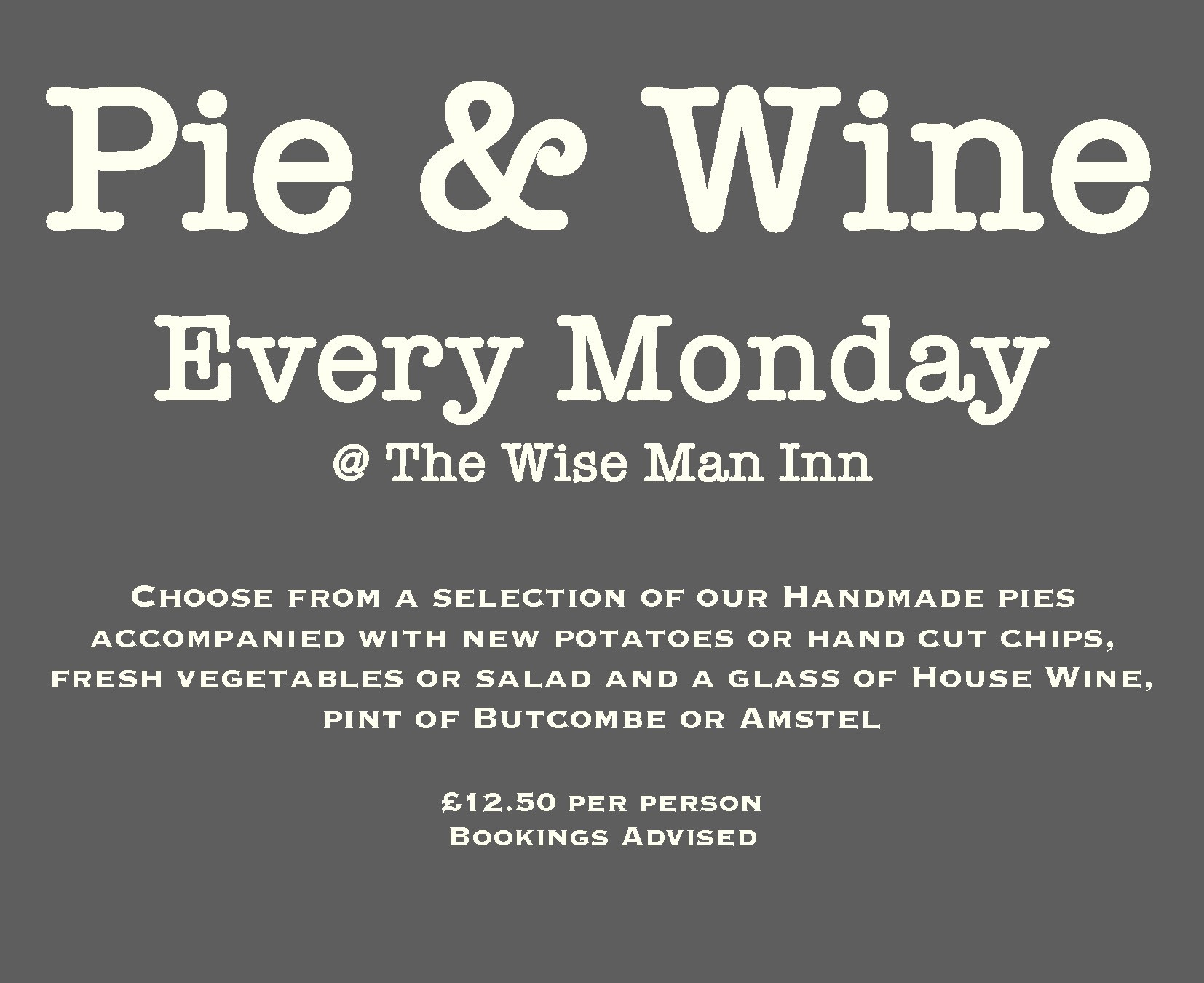 pie and wine mondays 2019